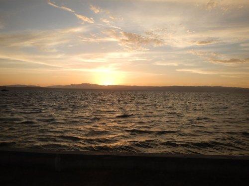 Sunset. Lake Titicaca, Puno
