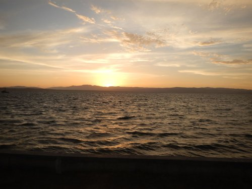 Sunset. Lake Titicaca, Puno