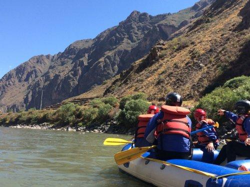 Rafting. Ollantaytambo, Cusco.